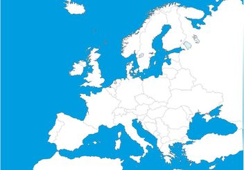 Map Of Europe Template - Free vector #159601