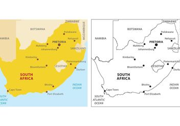South Africa Vector Map - vector #159631 gratis