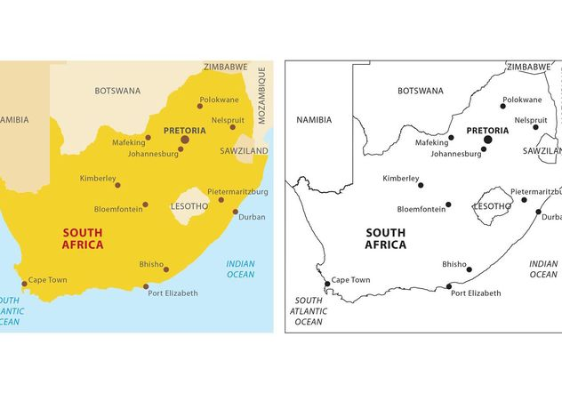 South Africa Vector Map - Free vector #159631