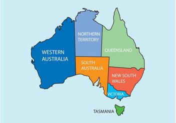 Australia Map - vector #159661 gratis