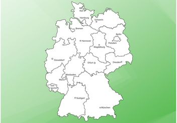 Map Of Germany - vector #159701 gratis