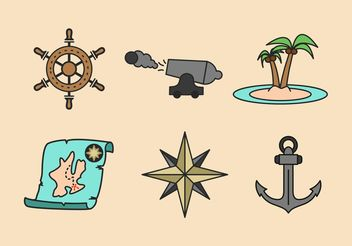 Pirate Adventure Vector Icons Pack - Free vector #159731
