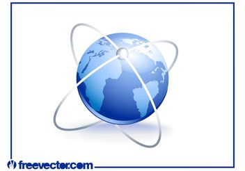 3D World Icon - vector gratuit #159821