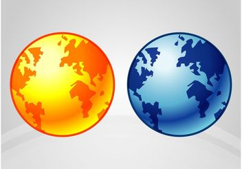 Earth Icons - vector gratuit #159831