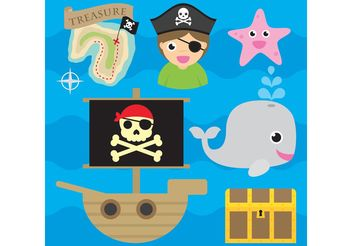 Pirate Vector Icons - vector #159931 gratis