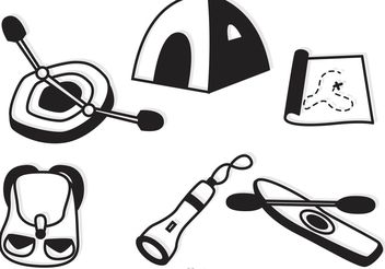 Camping And Recreation Icons Vector - Kostenloses vector #159961