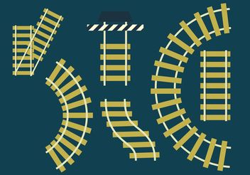 DIY Railroad Tracks Set - vector gratuit #159971