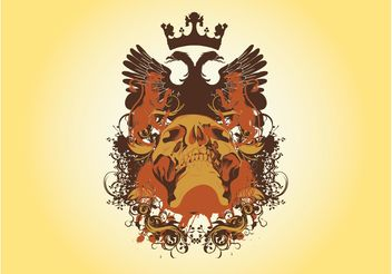 Blazon With Skull Graphics - vector gratuit #160061