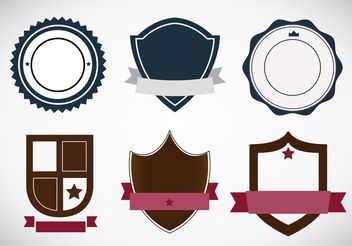 Classic Heraldic Badges and Label Vectors - vector gratuit #160071