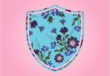 Shield With Flowers - Free vector #160081