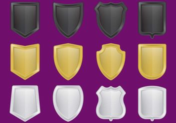 Metal Shield Vectors - vector gratuit #160161