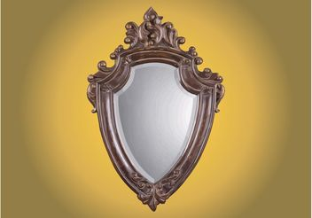 Antique Mirror - vector gratuit #160211