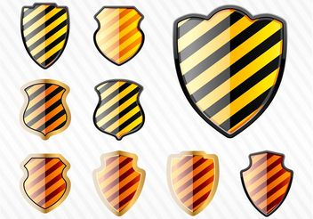 Striped Shields - vector gratuit #160221