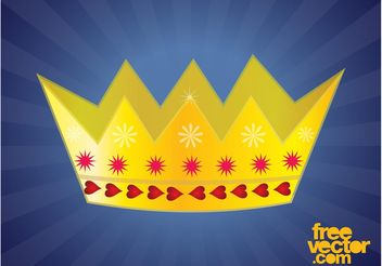 Golden Crown Design - Free vector #160231