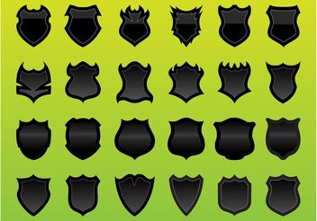 Shields Graphics Set - Free vector #160261