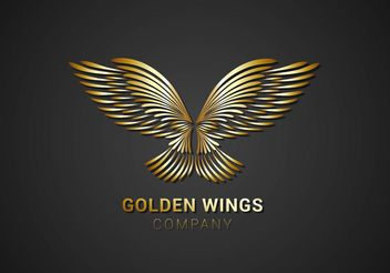 Free Golden Wings Logo Vector - Kostenloses vector #160271