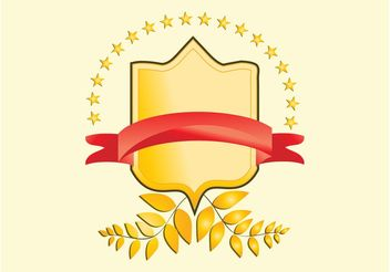 Golden Badge Vector - vector gratuit #160281