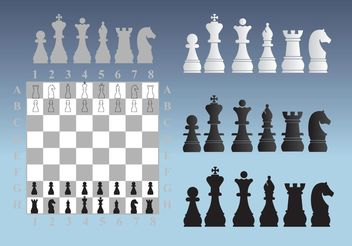 Chess Illustrations - vector gratuit #160311