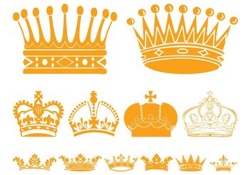 Crowns Graphics - Free vector #160331