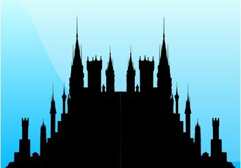 Fairytale Castle - Free vector #160341