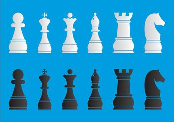 Chess Pieces Set - vector gratuit #160381