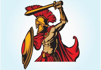 Spartan Warrior - Free vector #160461