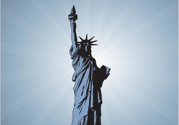 Statue Of Liberty Vector - бесплатный vector #160541