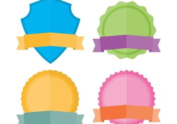 Badge Vectors - vector gratuit #160581