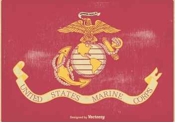 US Marine Corps Flag Vector Illustration - бесплатный vector #160601