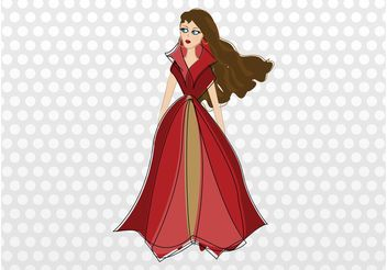 Fashion Lady - vector gratuit #160671