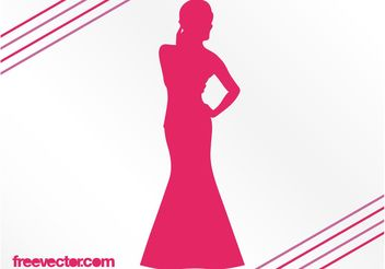 Woman With Evening Dress - Free vector #160691