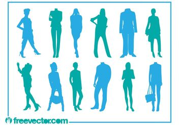 Fashion Silhouettes Vector - Free vector #160711