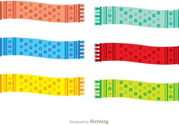 Polka Dot Neck Scarf Vector Pack - Kostenloses vector #160801