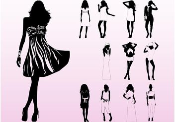 Model Silhouettes - Free vector #160851