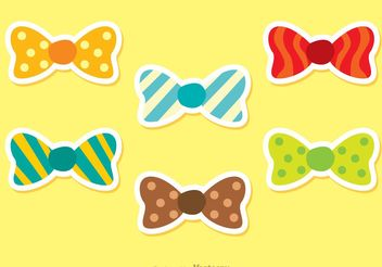 Set Of Vector Bow Ties - vector gratuit #160901