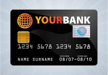 Credit Card Design - vector gratuit #161061