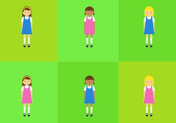 Vector School Children in Uniform - Free vector #161101