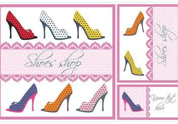 Shoes Vector Card Set - vector gratuit #161121