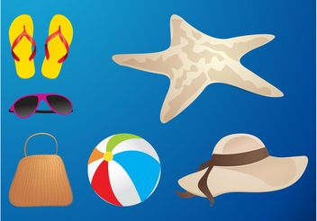 Summer Icons - Kostenloses vector #161181