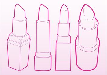 Lipsticks Vector - бесплатный vector #161241