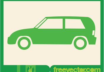 Green Car Icon - vector gratuit #161251