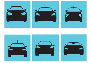 Stylish Car Silhouette Vectors - vector gratuit #161321