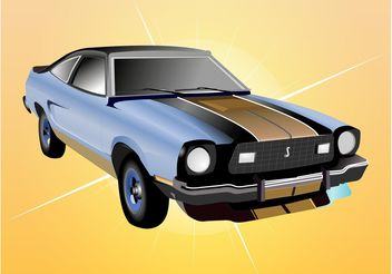 Cool Car Vector - vector gratuit #161331