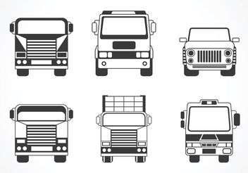 Free Vector Truck And Car Silhouette - бесплатный vector #161391