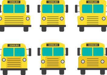 Front View School Bus Vectors - vector gratuit #161401