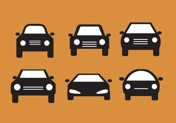 Car Front Silhouettes - Kostenloses vector #161421