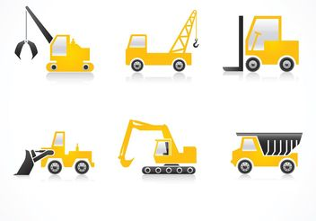Free Construction Vehicles Vector Icons - vector gratuit #161511
