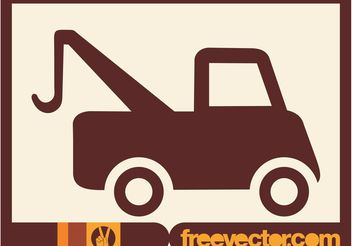 Tow Truck Icon - Kostenloses vector #161681