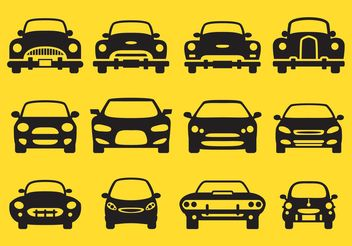 Car Silhouette Front Icons - Free vector #161691
