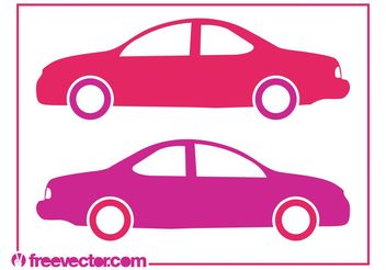 Stylized Car Silhouettes - Free vector #161711